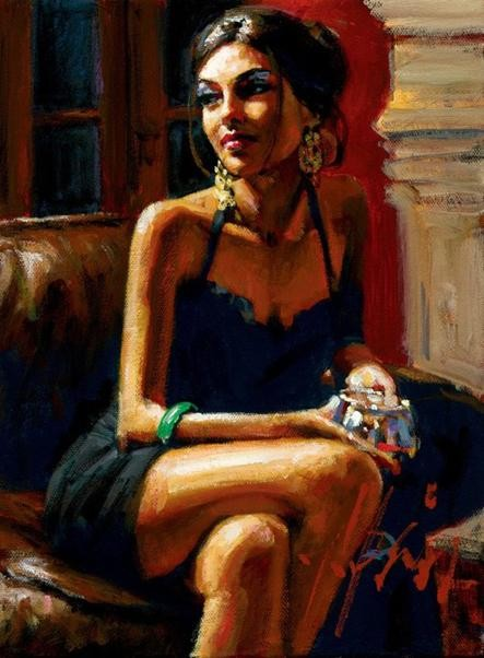Fabian Perez Red on Red IV
