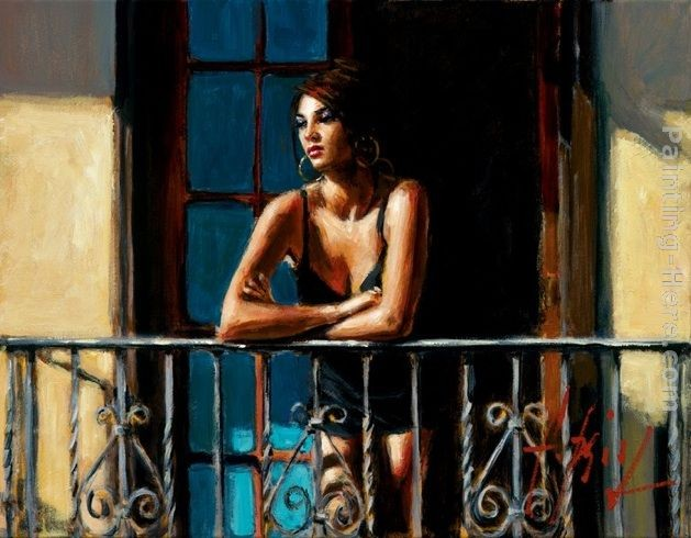 Fabian Perez Saba at the Balcony VI Light Walls