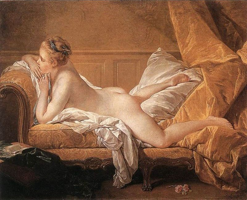 Francois Boucher Girl Reclining