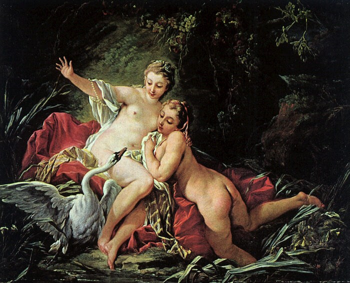 Francois Boucher Leda and the Swan