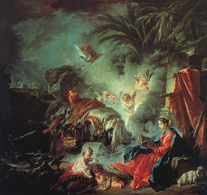 Francois Boucher The Rest on the Flight into Egypt