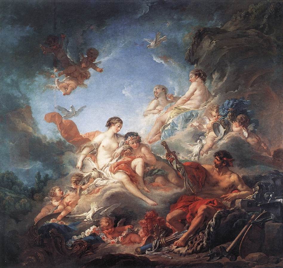 Francois Boucher Vulcan Presenting Venus with Arms for Aeneas