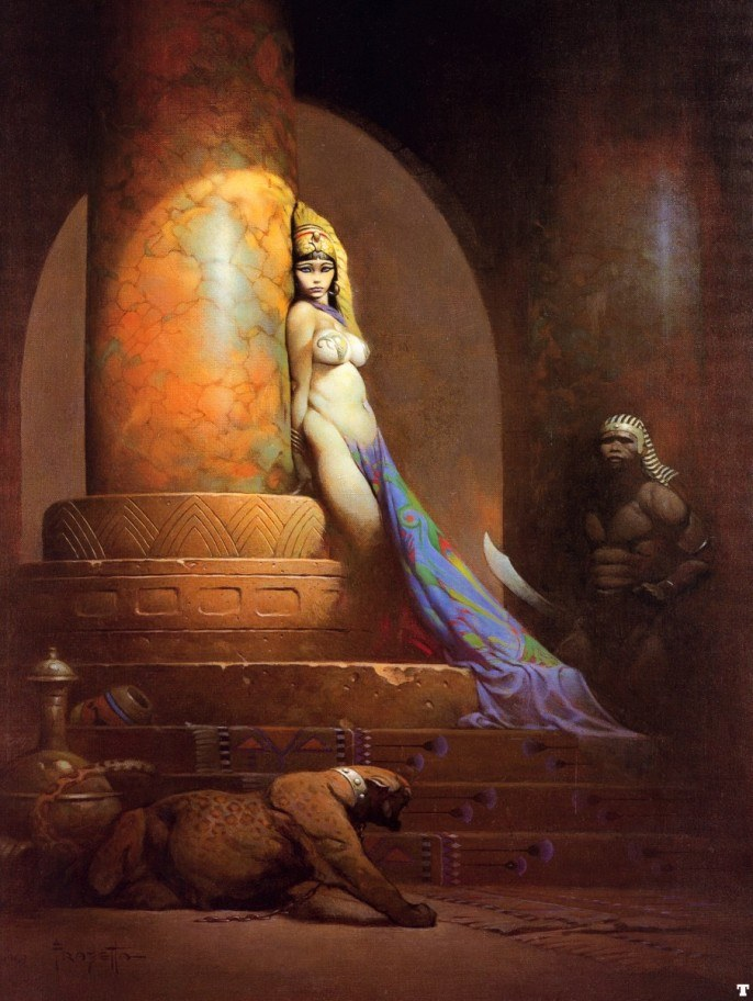 Frank Frazetta Egyptian Queen