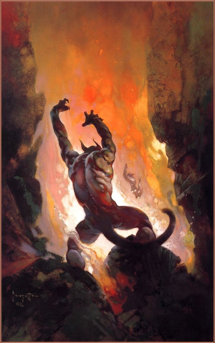 Frank Frazetta Fire Demon