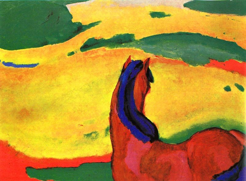 Franz Marc Horse in a Landscape