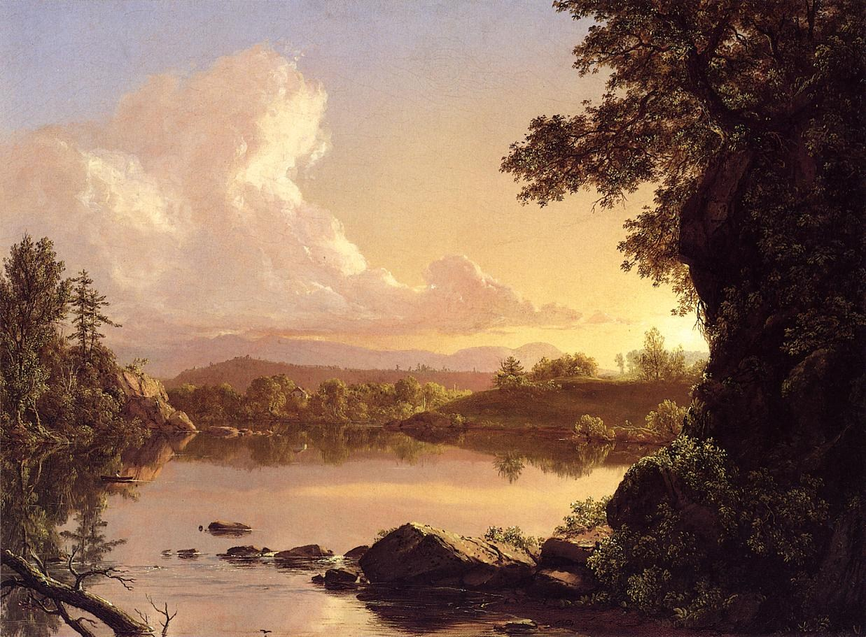 Frederic Edwin Church Scene on the Catskill Creek, New York