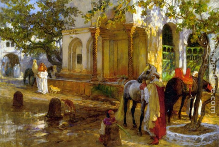 Frederick Arthur Bridgman At The Fountain
