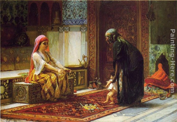 Frederick Arthur Bridgman Mother and Child