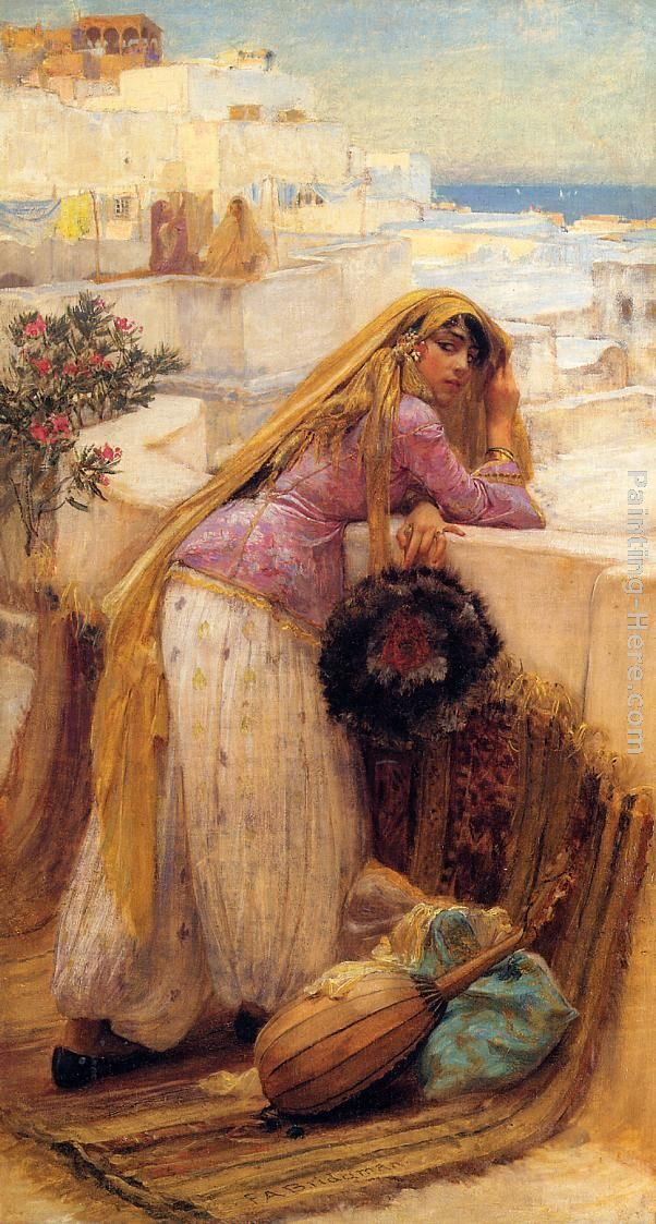 Frederick Arthur Bridgman On the Terrace