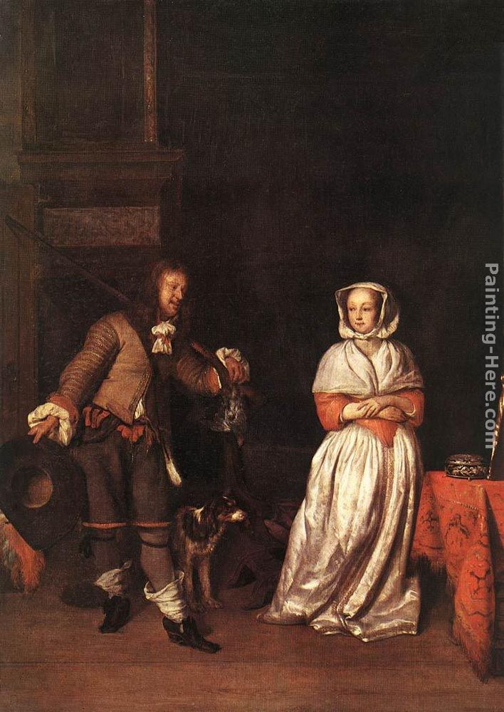 Gabriel Metsu The Hunter and a Woman