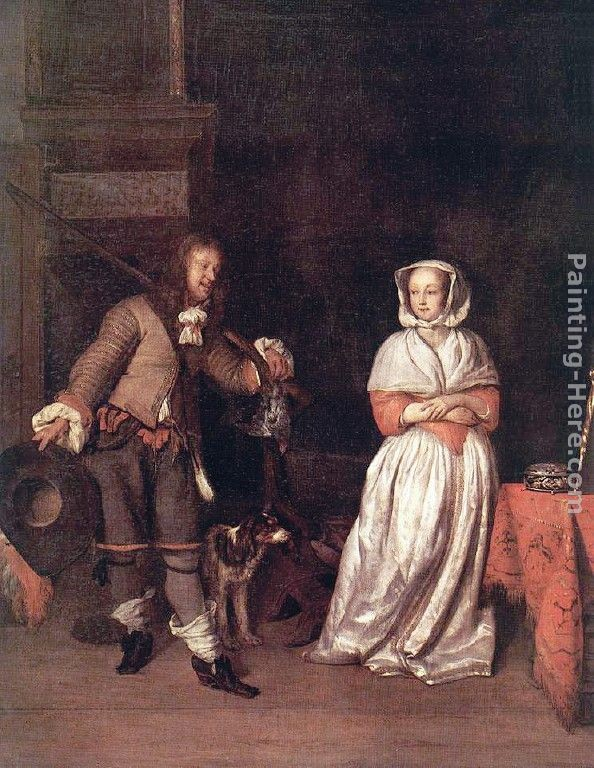 Gabriel Metsu The Hunter's Gift