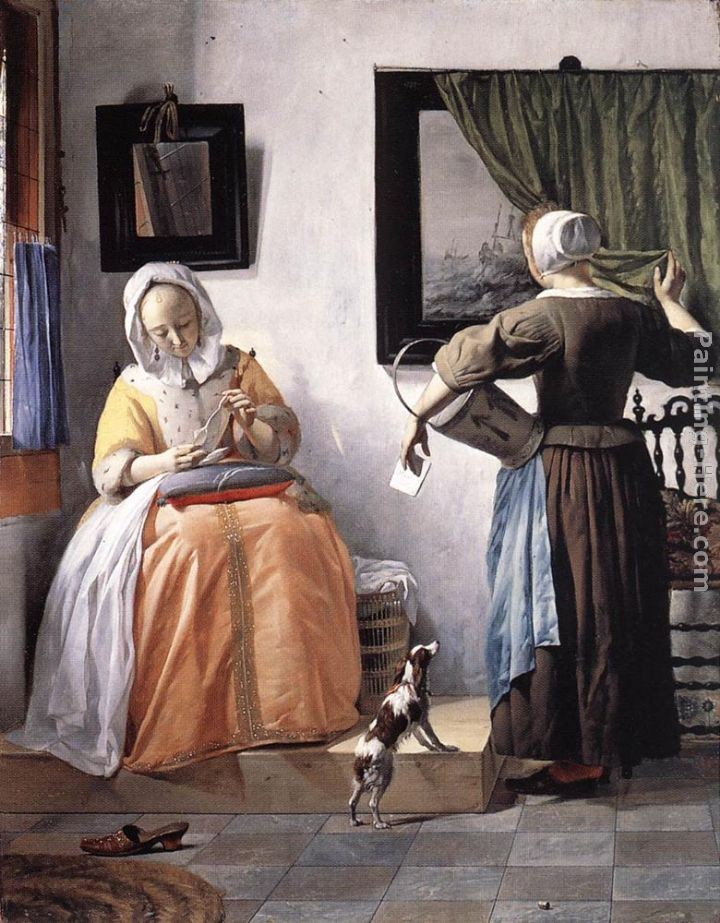 Gabriel Metsu Woman Reading a Letter