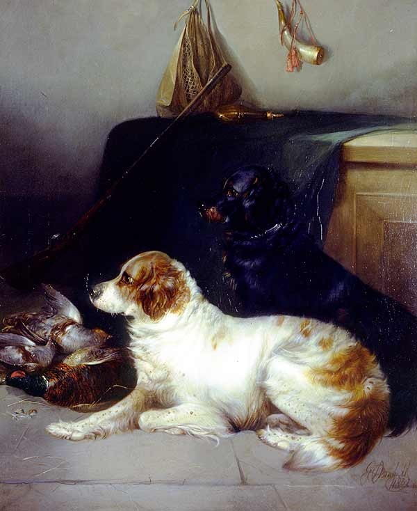 George Armfield Spaniels with the Day's Bag