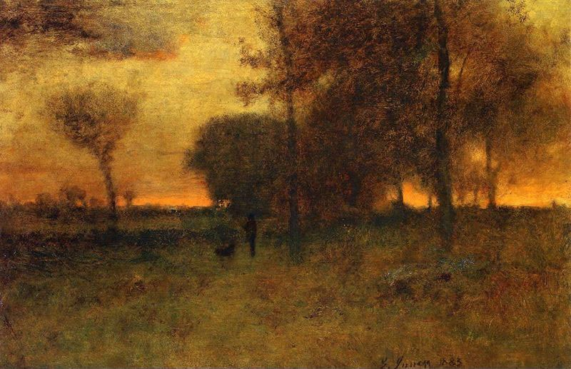George Inness Sunset Glow