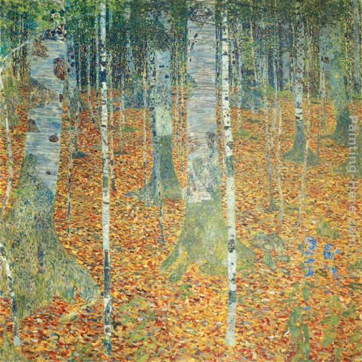 Gustav klimt birch forest painting best birch forest for Gustav klimt original paintings for sale