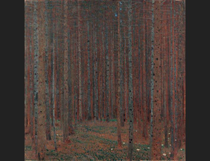 Gustav klimt fir forest painting best fir forest for Gustav klimt original paintings for sale