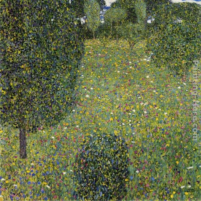 Gustav klimt garden landscape painting best garden for Gustav klimt original paintings for sale