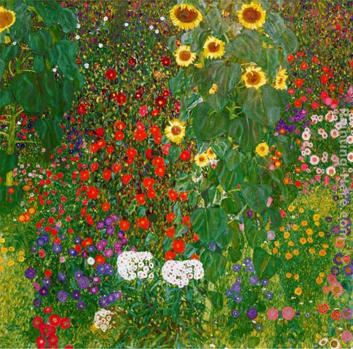 Gustav Klimt Garden with Sunflowers 1905-6