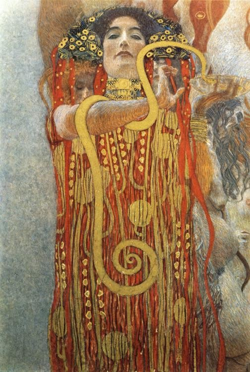 Gustav klimt hygieia ii painting best hygieia ii for Gustav klimt original paintings for sale