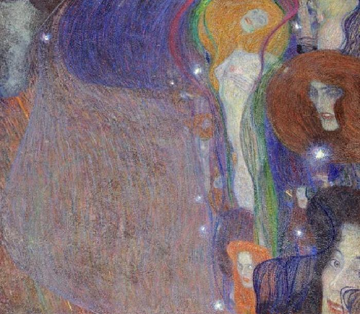 Gustav klimt irrlichter will o 39 the wisps painting for Gustav klimt original paintings for sale
