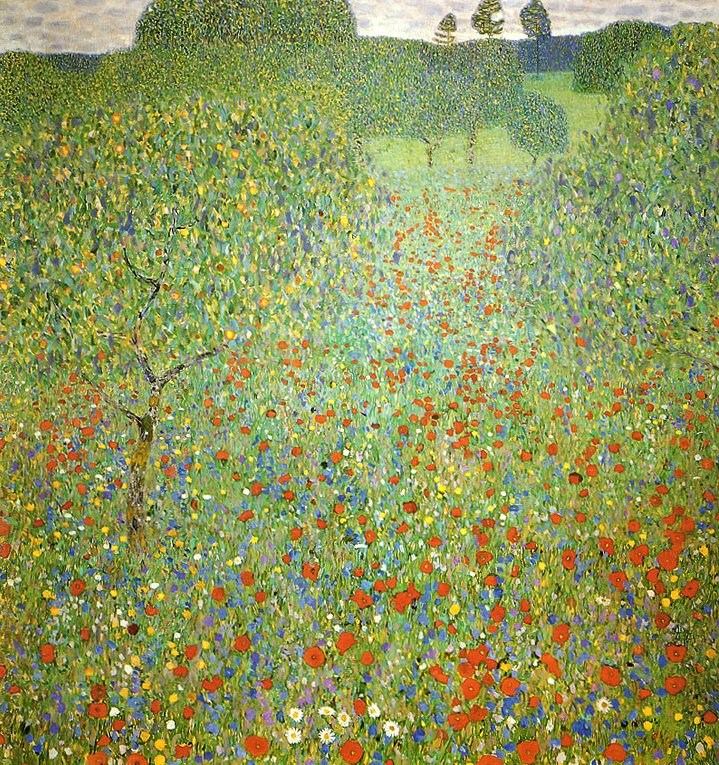 Gustav klimt poppy field painting best poppy field for Gustav klimt original paintings for sale