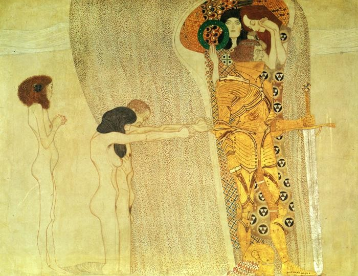 Gustav klimt the beethoven frieze painting best the for Gustav klimt original paintings for sale