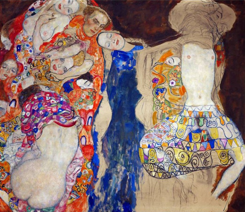 Gustav klimt the bride painting best the bride paintings for Gustav klimt original paintings for sale