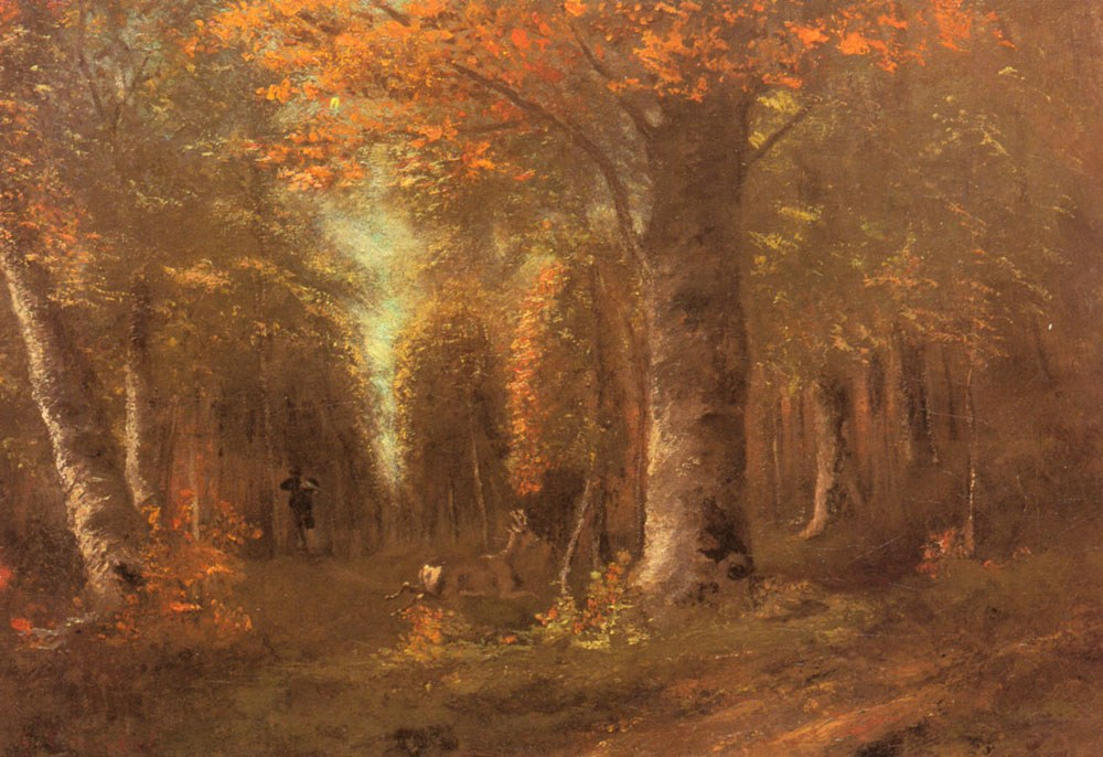 Gustave Courbet Forest in Autumn