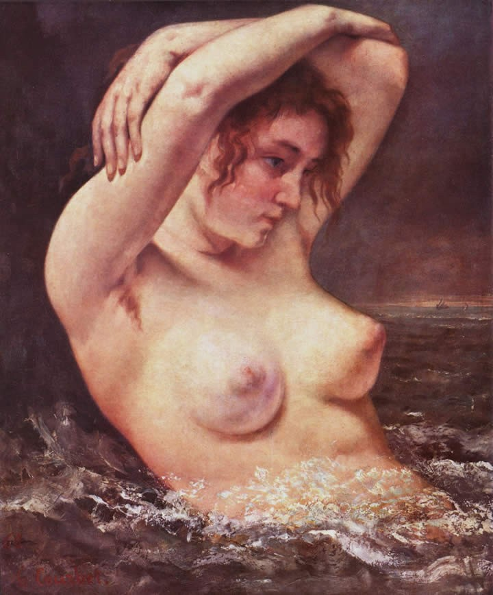 Gustave Courbet The Woman in the Waves