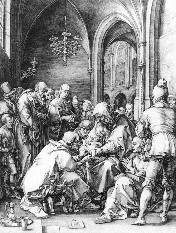 Hendrick Goltzius Circumcision in the Church of St Bavo at Haarlem