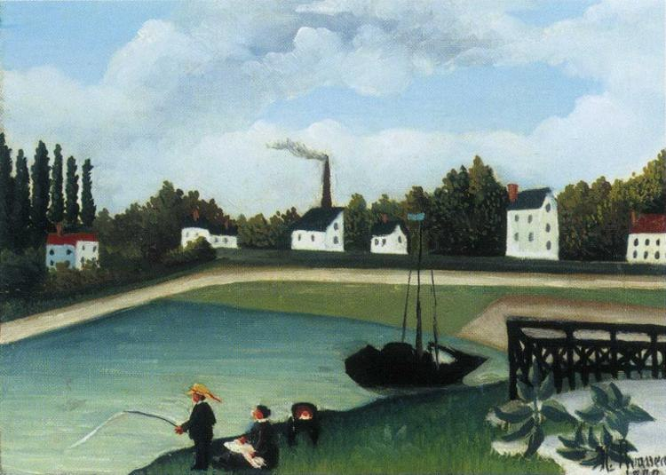Henri Rousseau Family Fishing