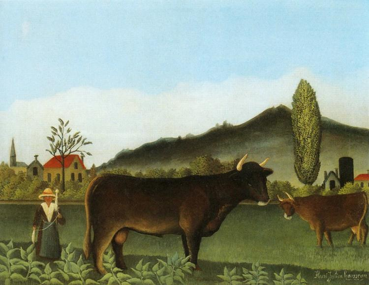 Henri Rousseau Landscape with Cattle