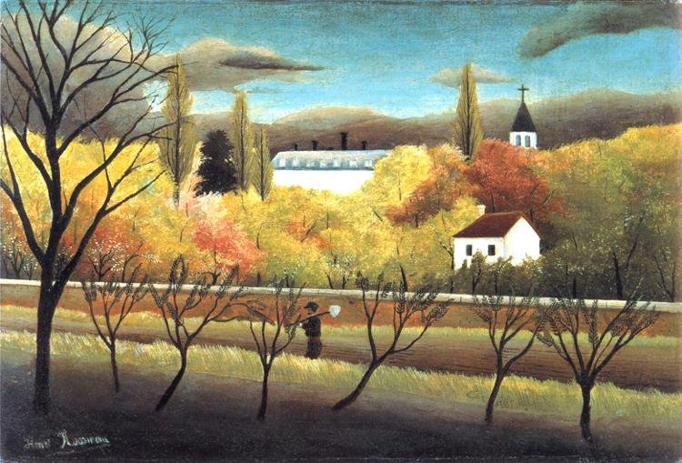 Henri Rousseau The Orchard