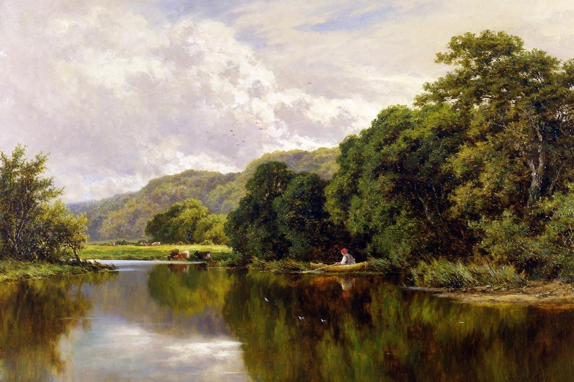 Henry H. Parker Nature's Mirror, on the Banks of the Thames