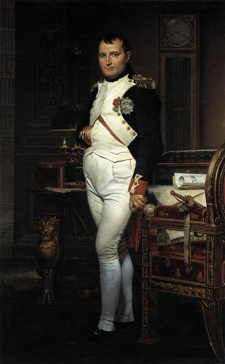Jacques-Louis David Napoleon in his Study