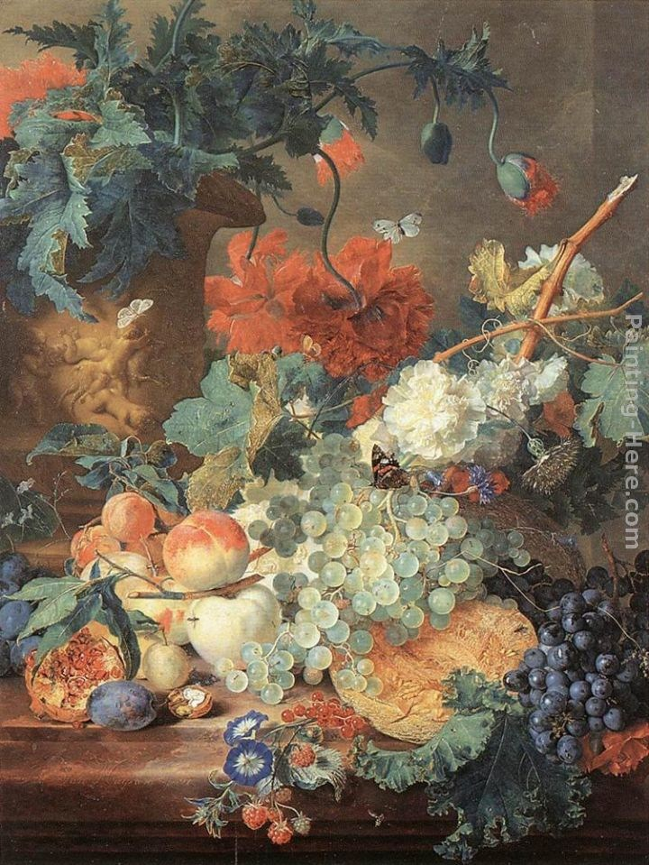 Jan Van Huysum Fruit and Flowers