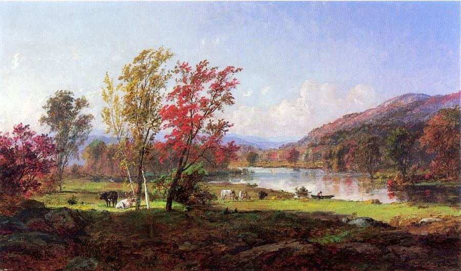 Jasper Francis Cropsey On the Saw Mill River