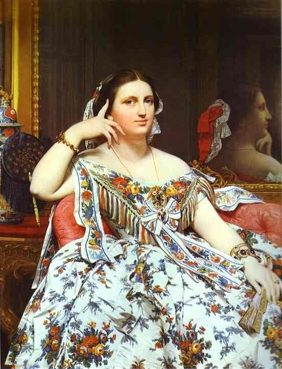 Jean Auguste Dominique Ingres Mme Moitessier Painting ...