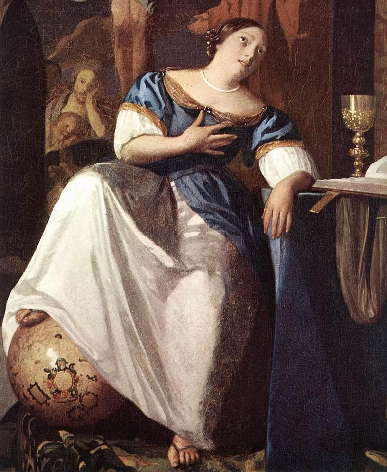 Johannes Vermeer The Allegory of the Faith detail