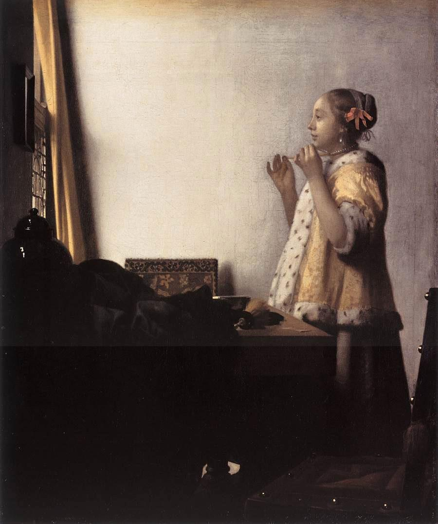 Johannes Vermeer Woman with a Pearl Necklace
