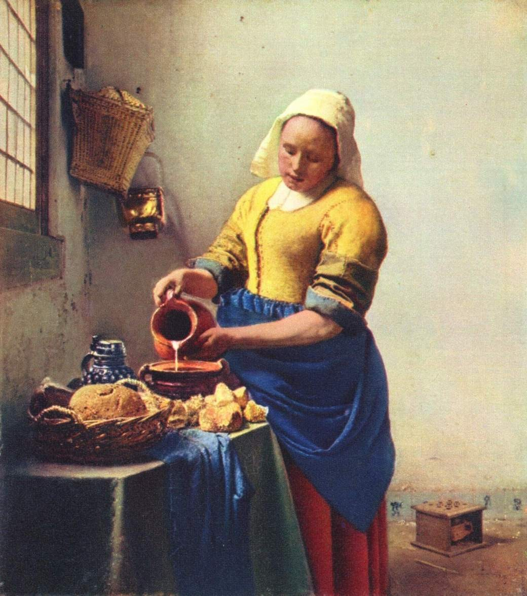 Johannes Vermeer The Milkmaid Painting Best The Milkmaid Paintings