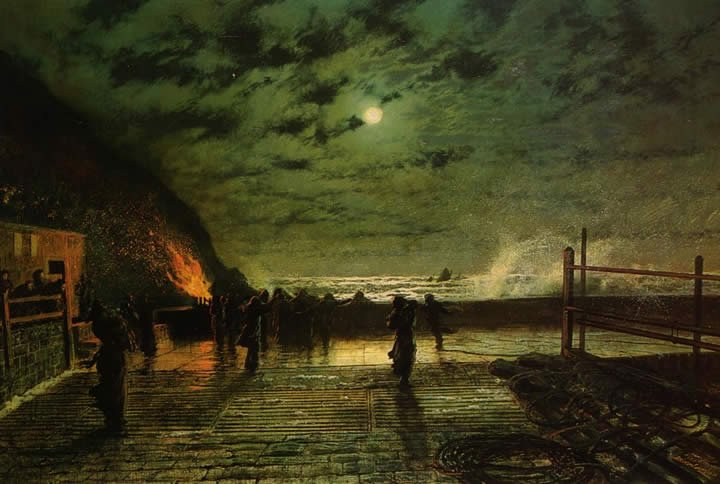 John Atkinson Grimshaw In Peril