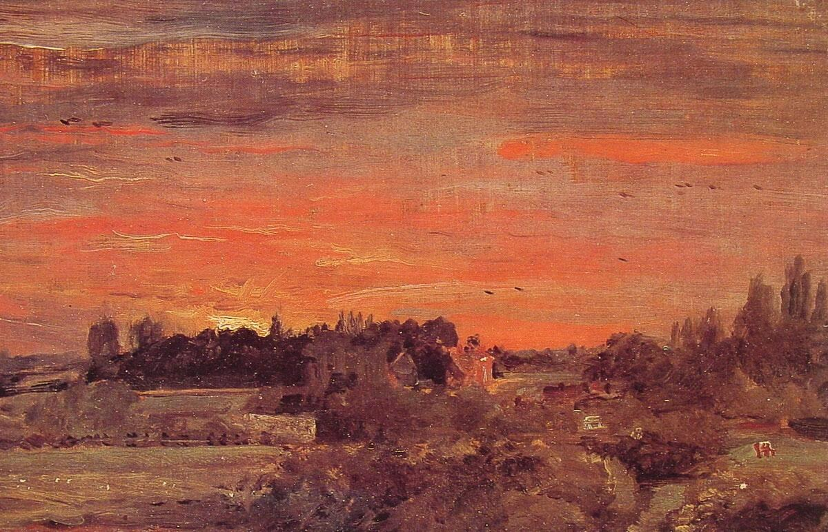 John Constable East Bergholt Rectory