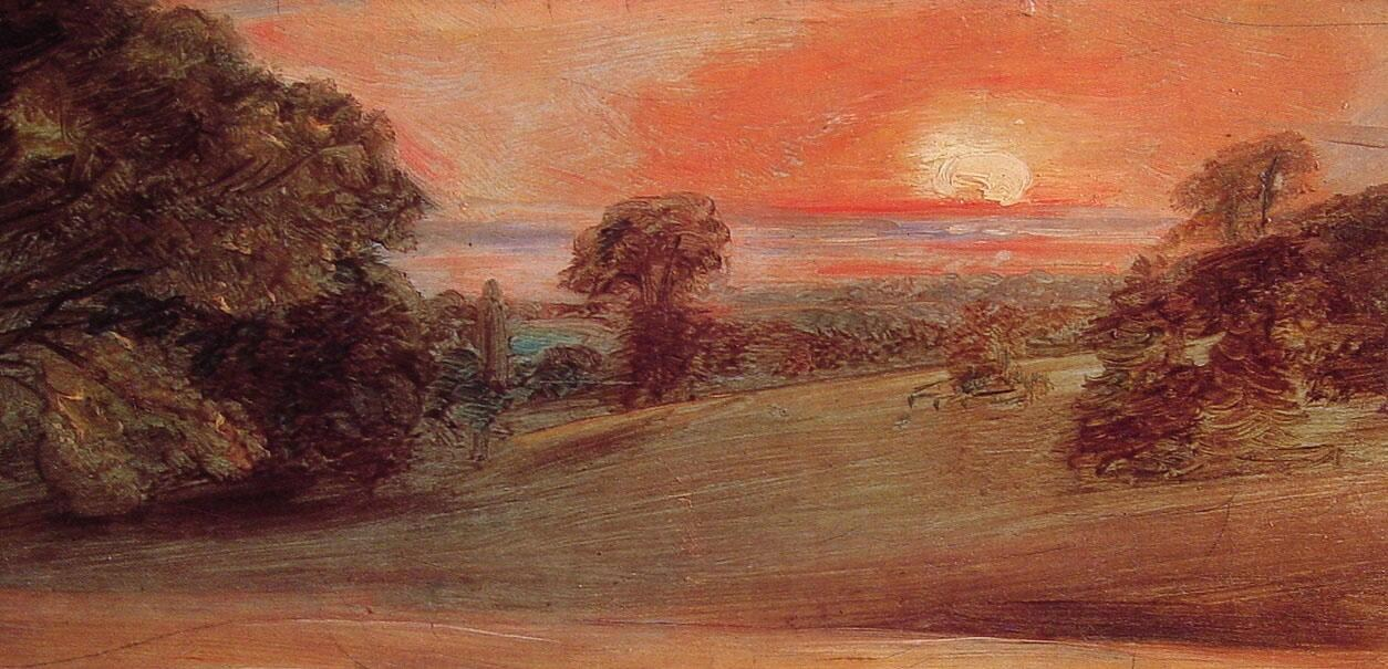 John Constable Evening Landscape at East Bergholt