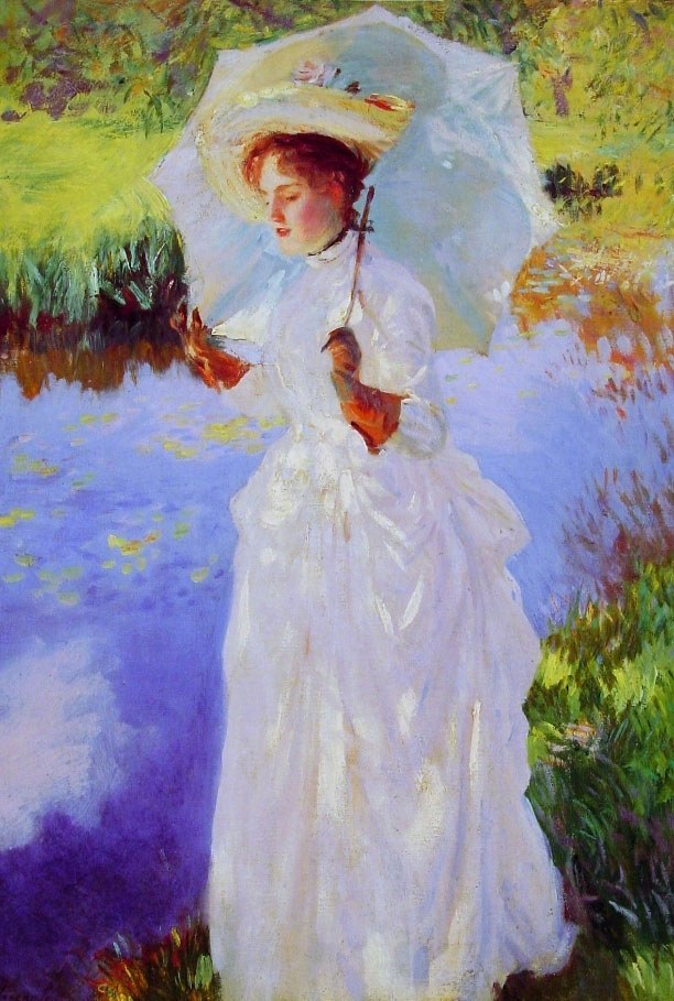 John Singer Sargent A Morning Walk lady