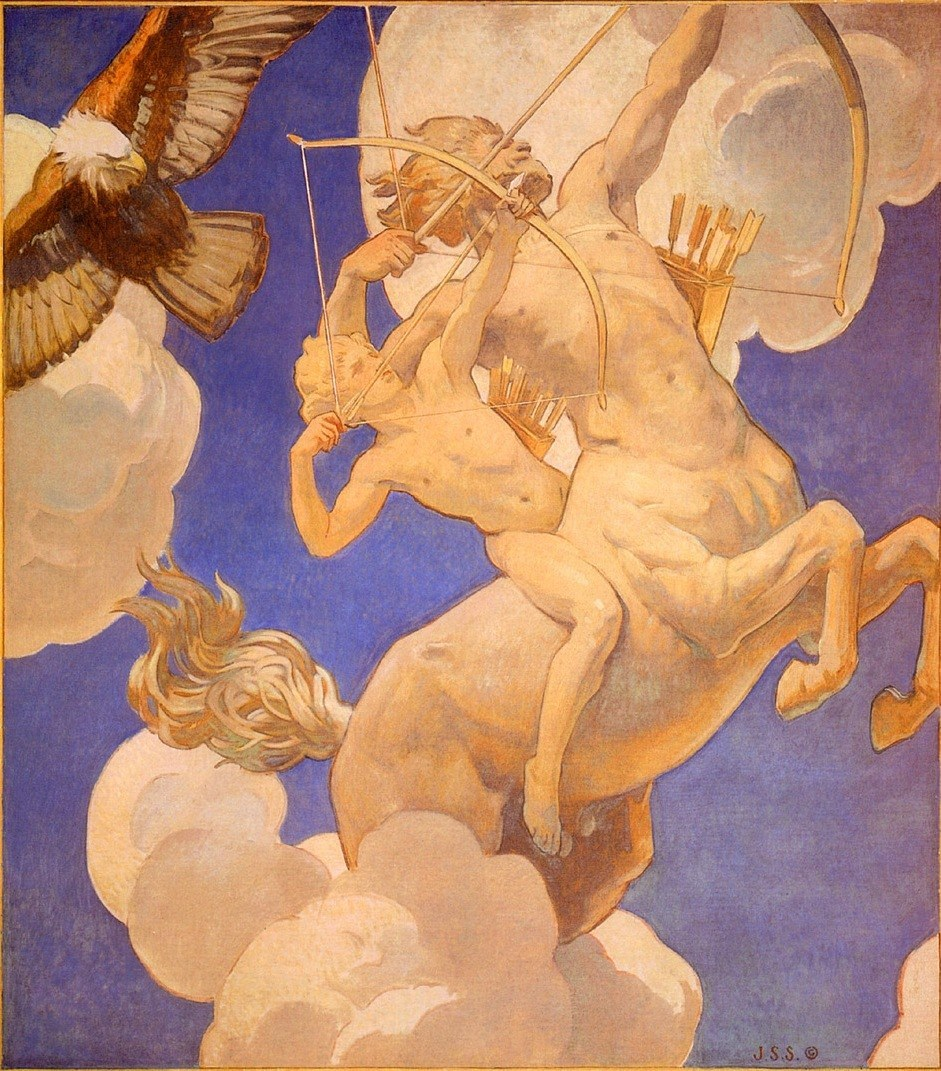 John Singer Sargent Chiron and Achilles