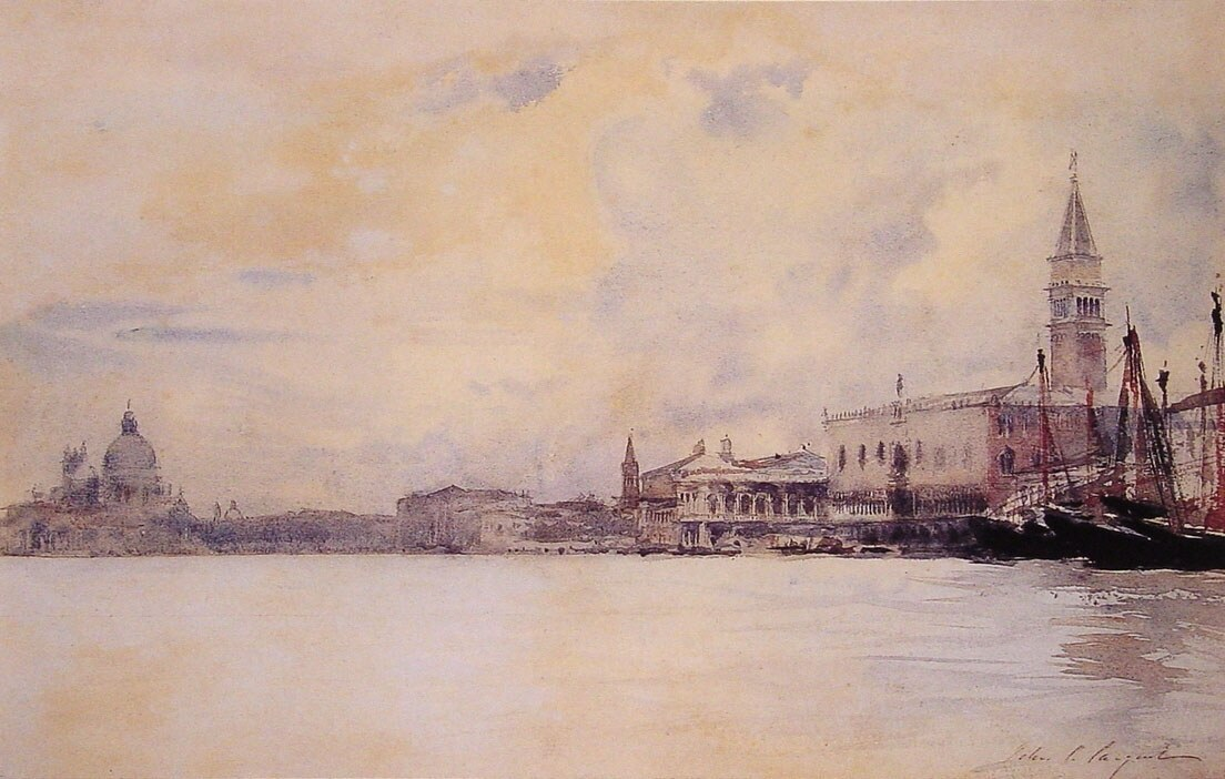John Singer Sargent The Entrance to the Grand Canal Venice