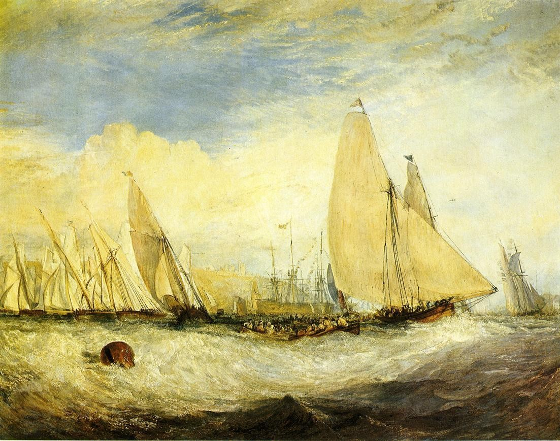 Joseph Mallord William Turner the Regatta beating to windward