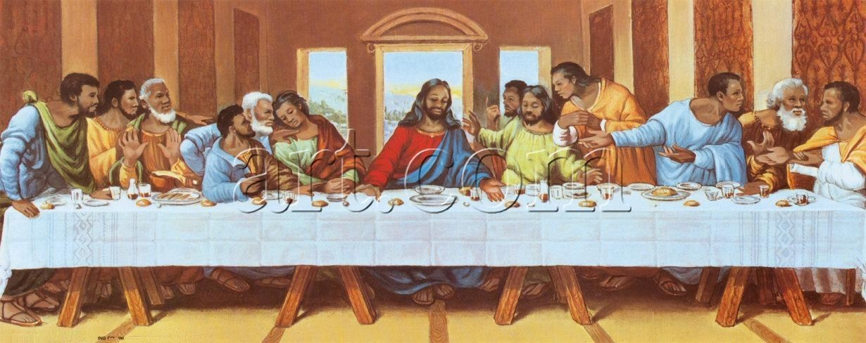 Leonardo da Vinci large picture of the last supper