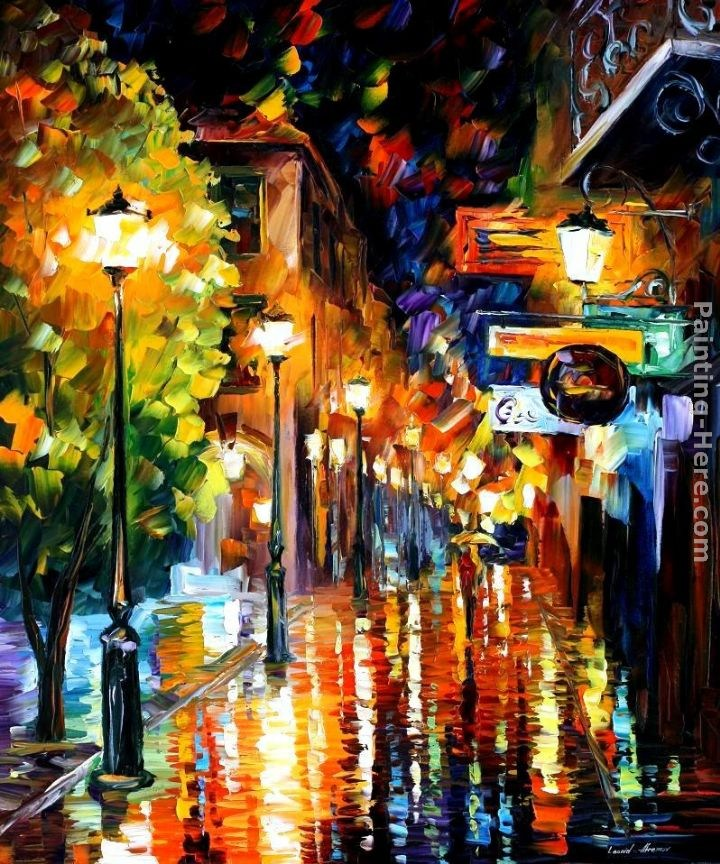 100 Hand Drawn City At Night 3 Knife Painting Modern: Best CITY Paintings For Sale